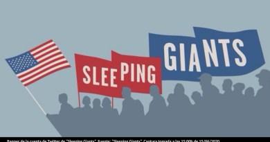 "Banner de la cuenta de Twitter de ""Sleeping Giants"". Fuente: ""Sleeping Giants"". Captura tomada a las 15:00h de 15/06/2020."