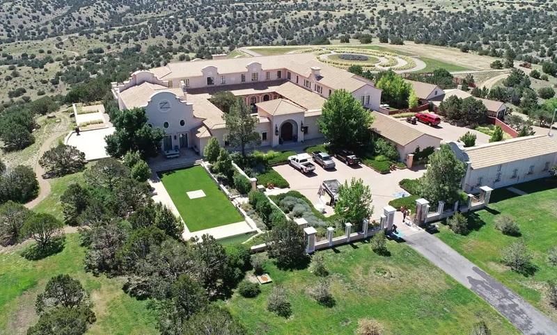 Captura Google Maps del Rancho de la isla de Epstein.