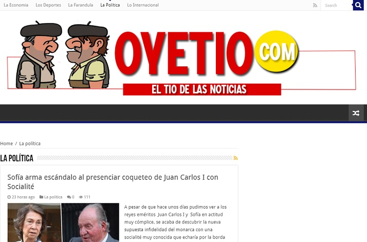 Portada de la web Oyetío.com. Captura de pantalla realizada realizada el 21/07/2020 a las 17:40. Fuente: Oyetío.com