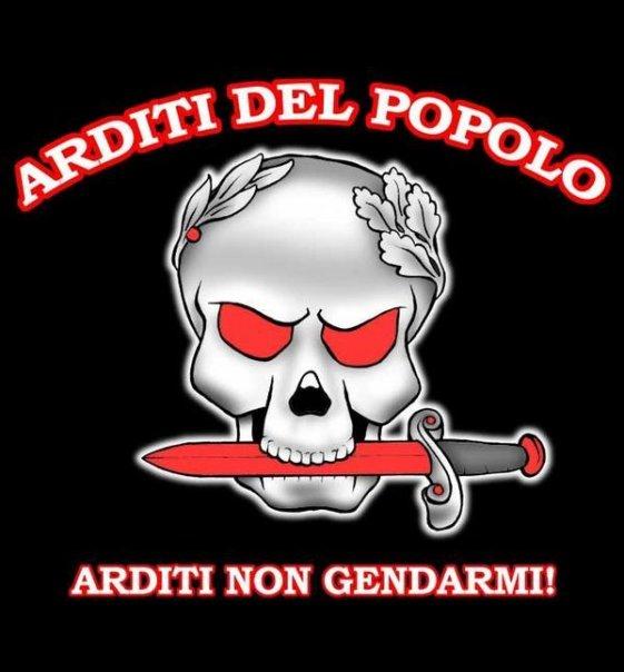Logo recreado de los Arditi del Popolo. Autor: página Arditi del Popolo Fecha: 7 de octubre de 2009. Fuente: Facebook La imagen pertenece a sus respectivos dueños.