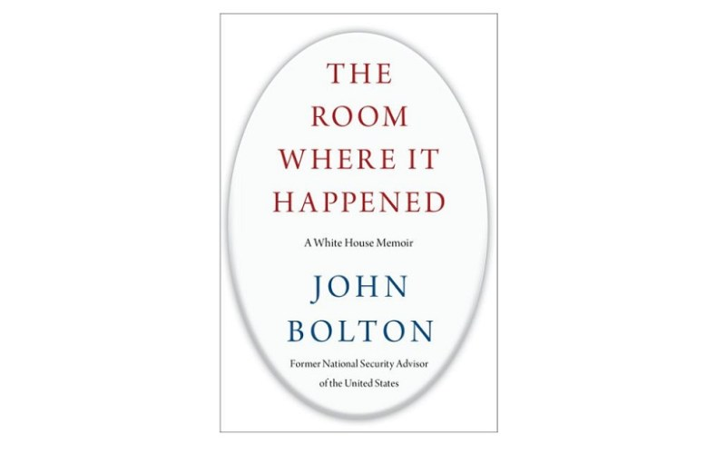 "Portada del libro ""The Room where it happened"" de el exasesor John Bolton. Autor: Simon Schuster. Fuente: Wikipedia."