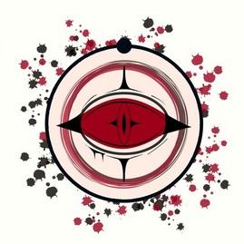Diseño de libre interpretación del logotipo de Cyclops, la organización secreta tras Seventh Kavalry en la serie de ficción Watchmen. Autora: Ballena Fantasma. Fuente: Redbubble.com.