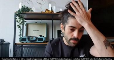 El youtuber Fortfast en su último vídeo tras la polémica, subido el 04/07/2020. Autor: Captura de pantalla el 06/07/2020 a las 18:04h. Fuente: Youtube,