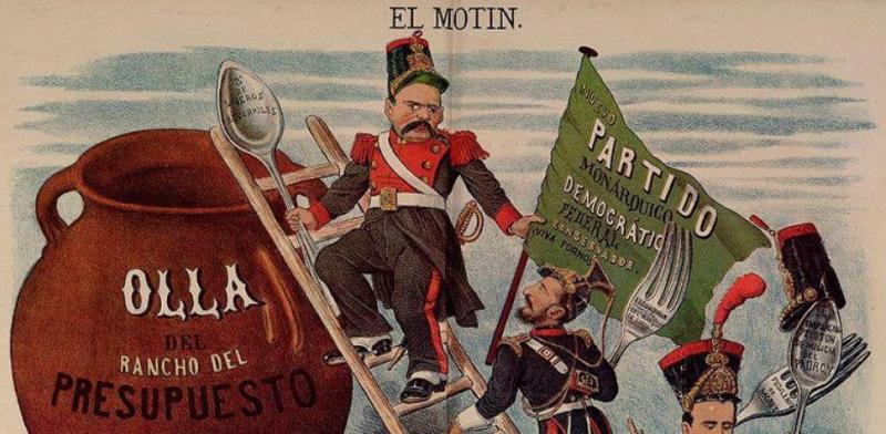 Al Asalto de Demócrito. Autor: Eduardo Sojo. Fecha 24 de julio de 1881. Fuente: Wikipedia, bajo licencia CC BY 1.0