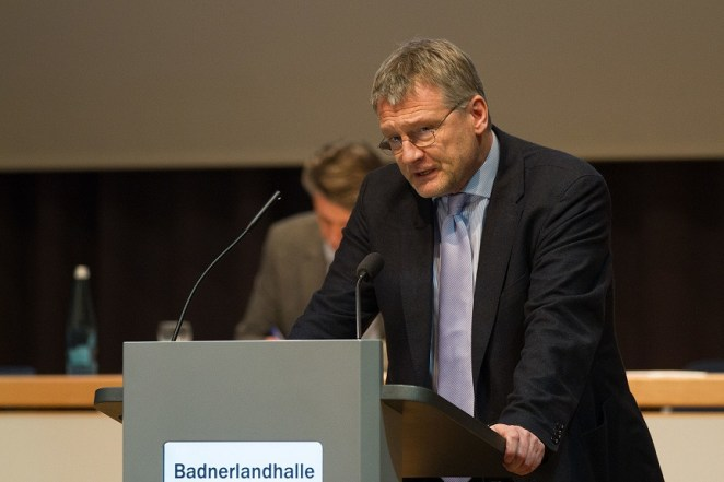 Jörg Meuthen, presidente del partido ultraderechista Alernativa para Alemania (AfD). Autor: Robin Krahl, 17/01/2015. Fuente: Wikimedia Commons (CC BY-SA 4.0.)