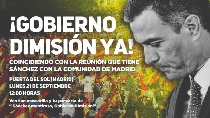 Cartel de la convocatoria de la concentración de Solidaridad en la Puerta del Sol. Autor: Solidaridad. Fuente: Twitter