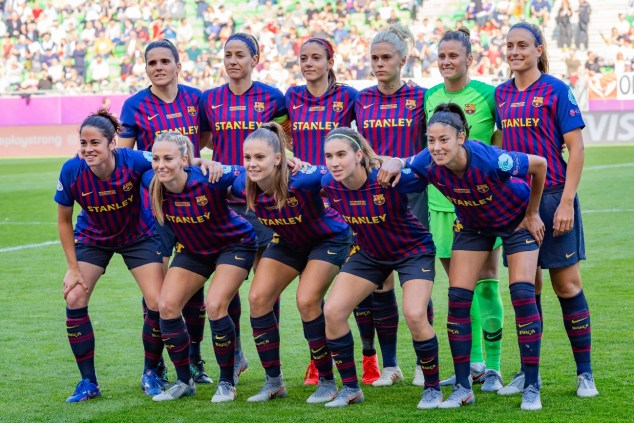 Formación inicial del F.C. Barcelona en la final de la Liga de Campeones. Autor: Steffen Proborf, 18/05/2019. Fuente: Wikimedia Commons (CC BY-SA 4.0.)