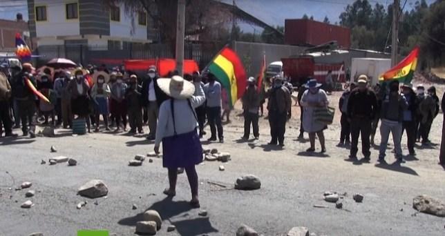 Bolivia continúa luchando en las calles. Autor: Captura de pantalla realizada el 17/08/2020 a las 13:01h. Fuente: Youtube.