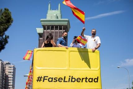 Manifestación caravana fase Libertad. Autor: Vox España, 23/05/2020. Fuente: Flickr. (CC0)