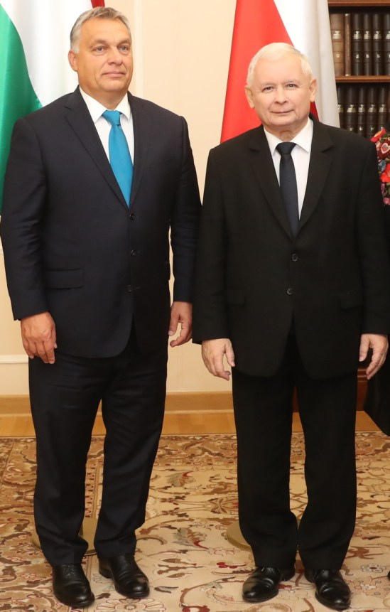 Reunión entre Jarosław Kaczyński (Polonia) y Viktor Orbán (Hungría), países referentes de Vox. Autor: Kancelaria Sejmu / Paweł Kula, 22/09/2017. Fuente: Flickr (CC BY 2.0.)