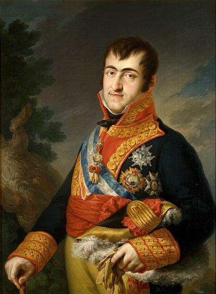 Retrato del reyFernando VII de España. Autor: Vicent López Portañas, 1814-1815. Fuente: Wikimedia Commons.