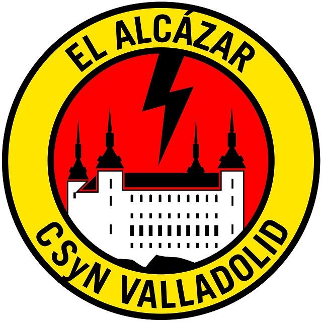 Logotipo del grupo neofascista CSyN Valladolid, que reúne varios elementos mencionados. Autor: CSyN Valladolid. Fuente: Cuenta de Twitter @CSyN_Valladolid