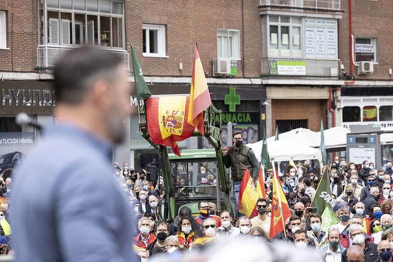 Mitin de Vox el 1 de mayo y acto de su sindicato, Solidaridad. Autor: Vox España, 01/05/2021. Fuente: Flickr