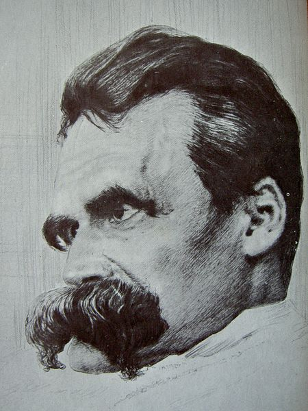 Retrato de Friedrich Nietzsche por Hans Olde en 1899.
