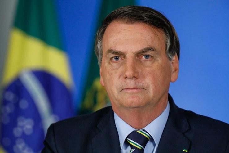 Jair Bolsonaro en la Red de Radio y Televisión Pública. Autor:  Palácio do Planalto, 24/03/2020. Fuente: Flickr (CC BY 2.0).