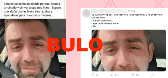 Bulo sobre el joven que se suicidó. Autor: Maldita.es, 21/05/2021. Fuente: Maldita.es (CC BY-SA 3.0 ES)
