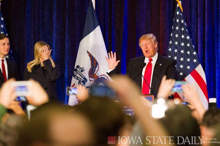 El expresidente de EEUU Donald Trump, ejemplo de líder autoritario. Autor: Max Goldberg, 01/02/2016. Fuente: Flickr (CC BY-2.0)