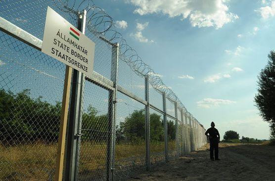 Barrera en la frontera entre Hungría y Serbia. Autor: Délmagyarország/Schmidt Andrea, 21/07/2015. Fuente: Délmagyarország (CC BY-SA 3.0).