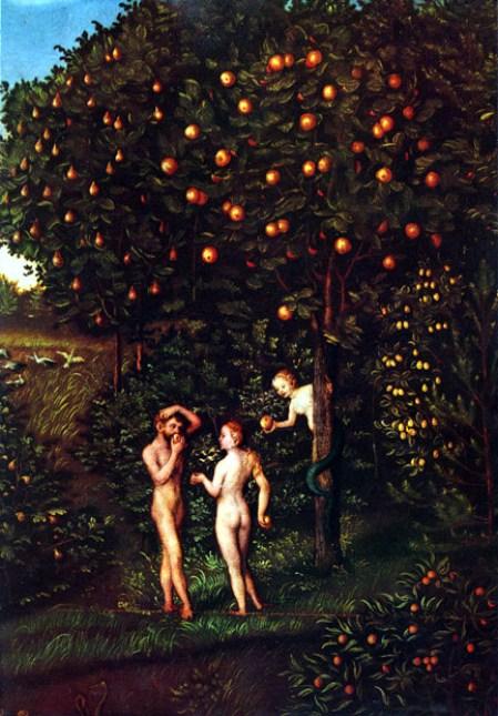 Elárbol del conocimiento del bien y el mal es uno de los dosÁrboles del Paraísoen la historia delJardín del Edén. Autor: Lucas Cranach, 1530.