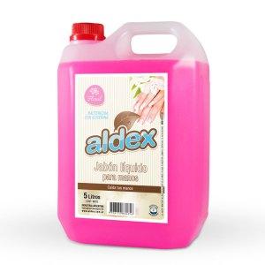 Jabón líquido para manos antibacterial Aldex x 5L.