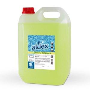 Cloro para piscinas Aldex x 10L.