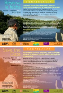 Conferencia sobre la justicia ambiental y el derecho a la tierra en el MAPR