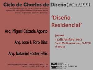 Ciclo de charlas de diseño CAAPPR: Diseño residencial