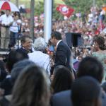 a ceremonia tuvo lugar en las escalinatas del Capitolio el 2 de enero de 2013 ante un numeroso y entusiasta público.