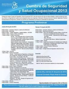 Cumbre de Seguridad y Salud Ocupacional 2013