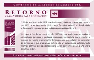Derecho UPR invita a casa abierta para egresados y egresadas