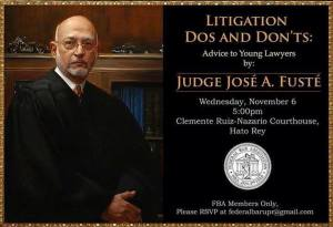 Conferencia: Litigation Dos and Don'ts: Advice to Young Lawyers