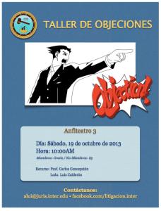 Taller de objeciones en la Inter Derecho