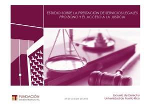 Presentan hallazgos de investigación sobre servicios pro bono en Puerto Rico