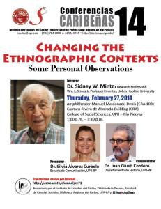 """Dr. Sidney W. Mintz - """"Changing the Ethnographic Contexts: Some Personal Observations"""""""