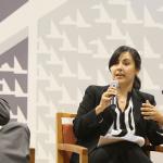 La licenciada Cristina Beaucham Richards, analizó la obra de Hernández Denton desde el punto de vista de sus opiniones disidentes.