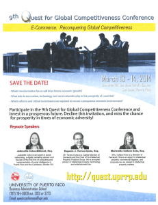 9th Quest for Global Competitiveness Conference