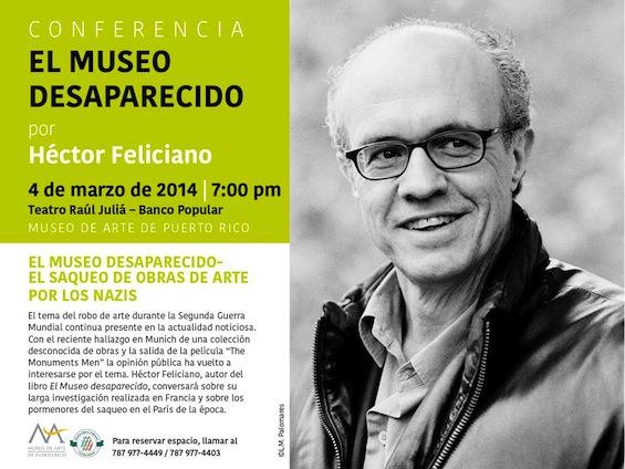 Conferencia de Héctor Feliciano: El Museo Desaparecido - El saqueo de obras de arte por los Nazis