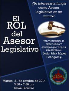 «El rol del asesor legislativo» en la Inter Derecho