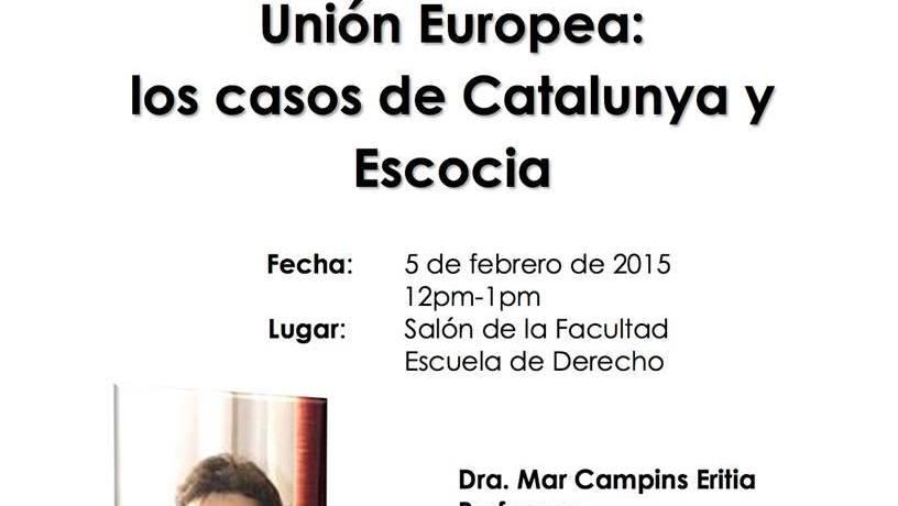 La sesesión de estados en la Unión Europea, los casos de Catalunya y Escocia