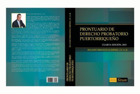 Se publica cuarta edición del Prontuario de Derecho Probatorio Puertorriqueño