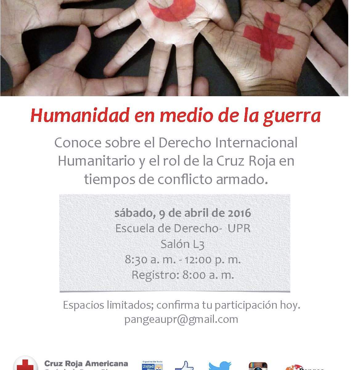 «Humanidad en medio de la guerra»,derecho internacional humanitario