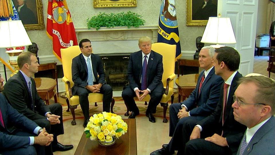 Gobernador se reúne con el presidente Donald Trump en la Casa Blanca