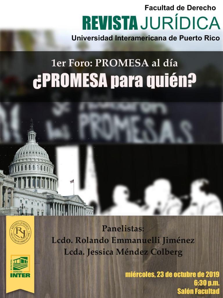 Primer foro de PROMESA al día: ¿PROMESA para quién?