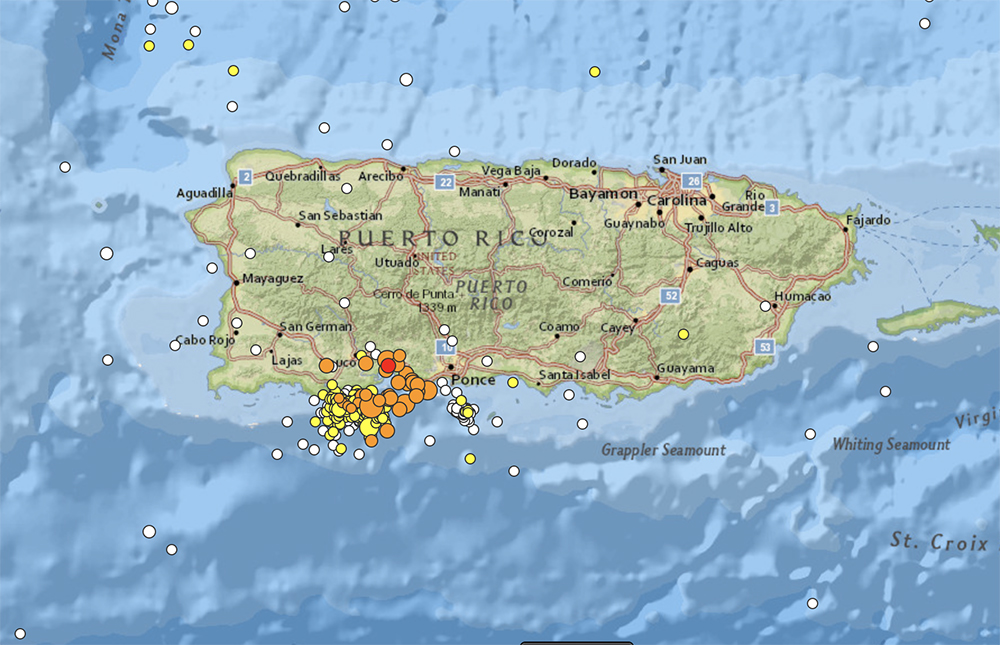 municipios afectados por terremoto puerto rico