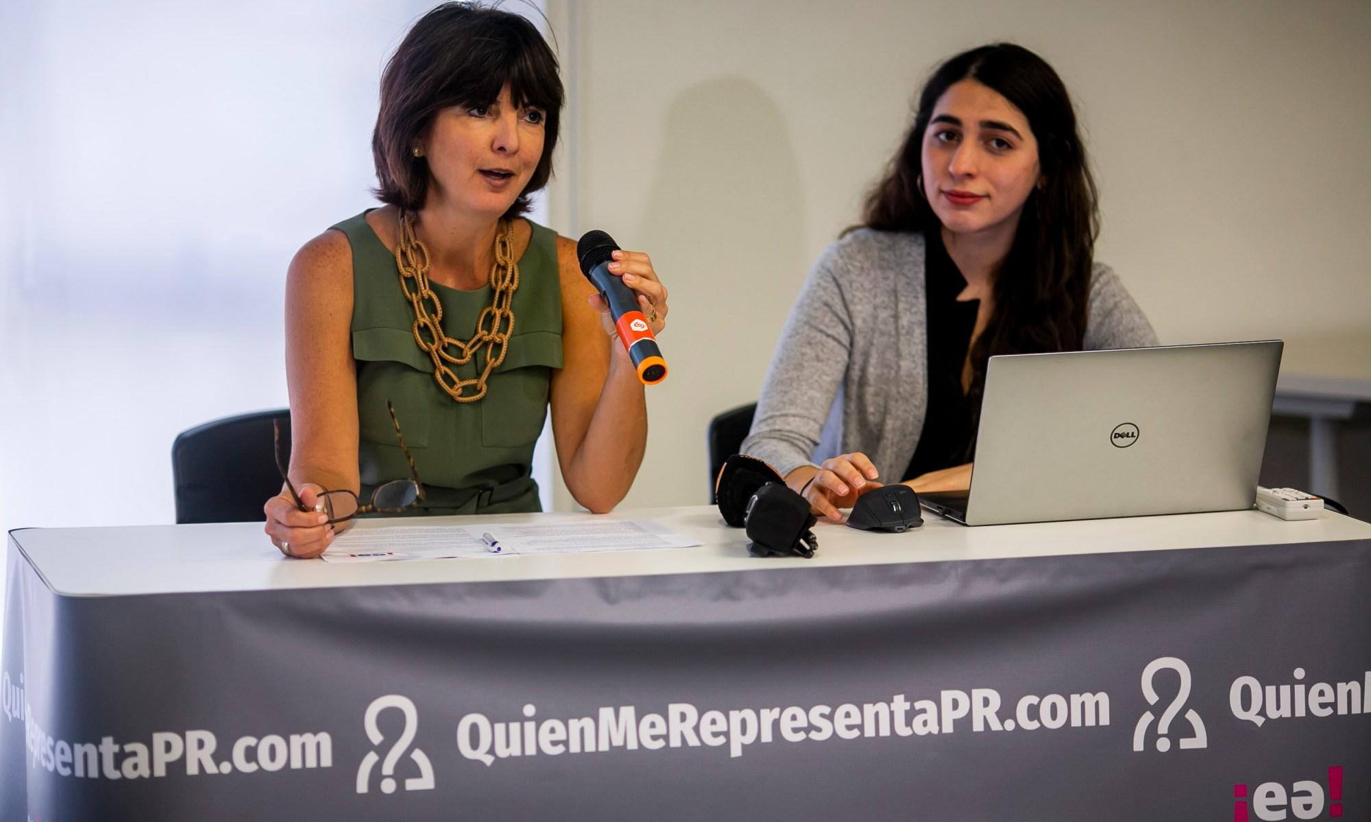 Cecille Blondet, directora ejecutiva de EA y María Mercedes Rodríguez, analista de Política Pública de EA