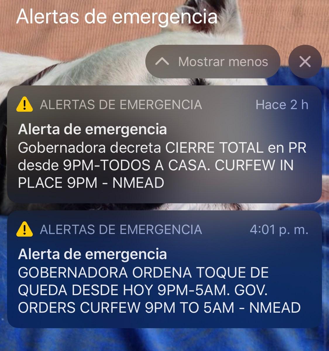 toque de queda mensajes de texto