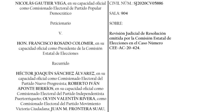 Juez resuelve que no tiene jurisdicción en caso electoral