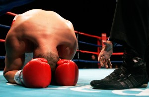 Photo by John Schreiber/RGJ Shawn Kirk of Lexington, KY gets a ten count from the referee after getting knocked out by Fedor Chudinov of Siberia, Russia during the Summer Showdown at the Reno Events Center Friday, July 10, 2009.