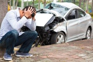 Upset driver After Traffic Accident