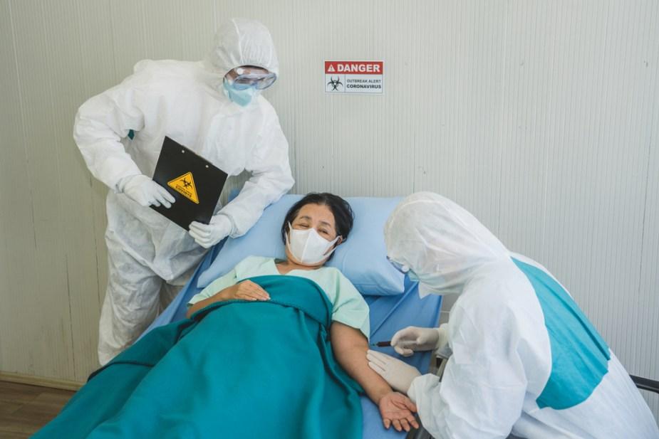 covid medico paciente